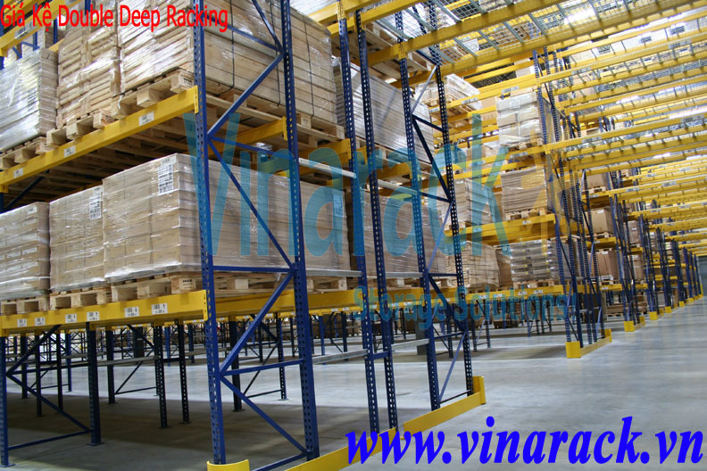 Kệ Double Deep Racking Chứa Pallet